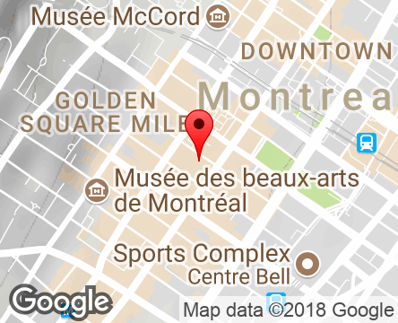 Google Map of 1426 Stanley,Montreal,Quebec,H3A 1P7,Canada