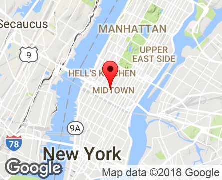 Google Map of 1460 Broadway,New York,NY,10036,USA