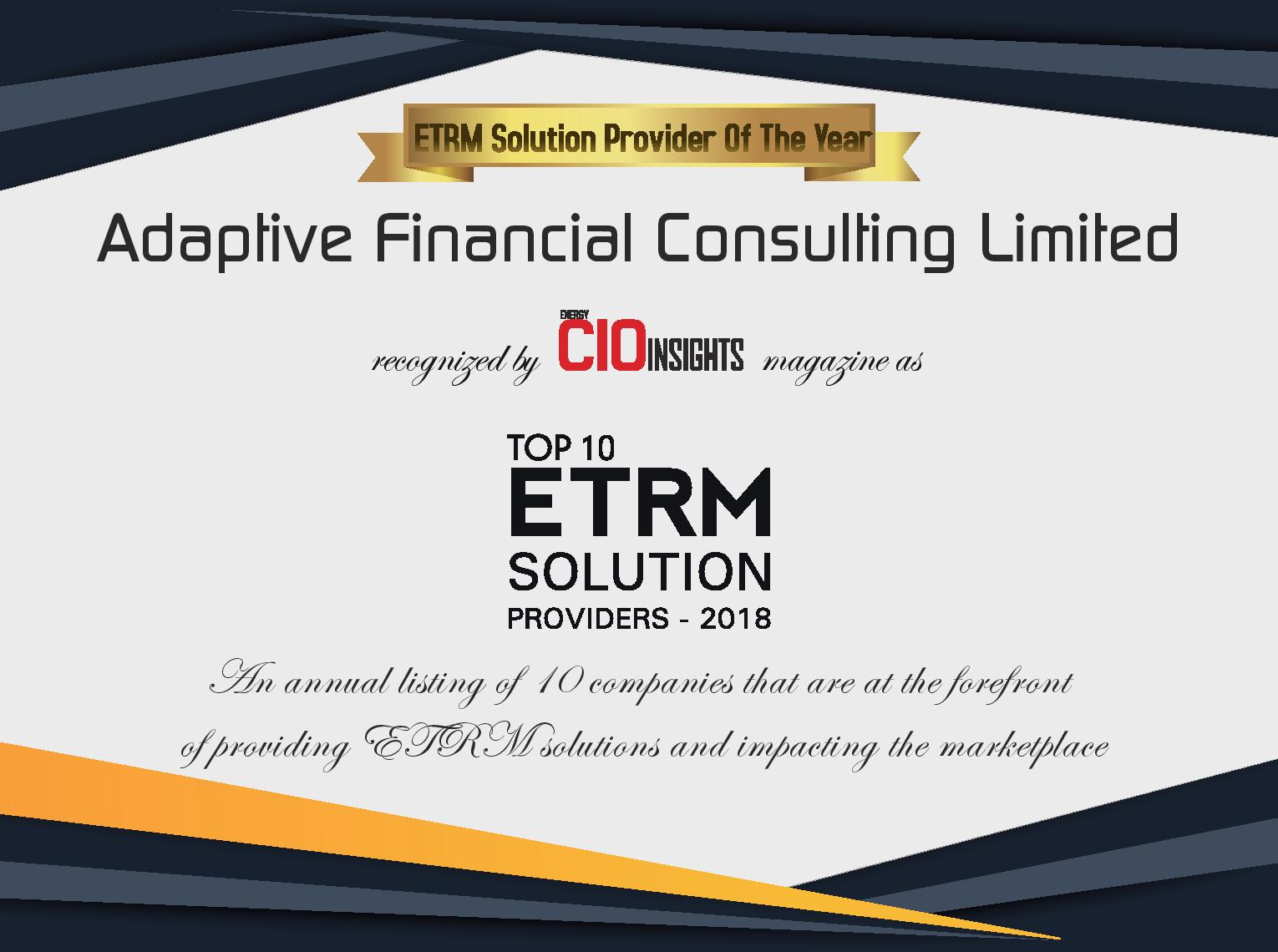 Adaptive named ETRM Provider Solution of the Year - Adaptive