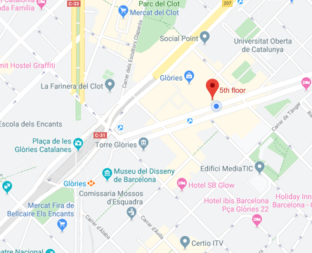 Google Map of Avinguda Diagonal 200, 5th floor,Barcelona,Spain